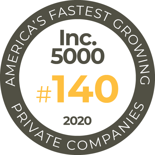 Inc. 5000 - America's Fastest Growing Private Companies 2020